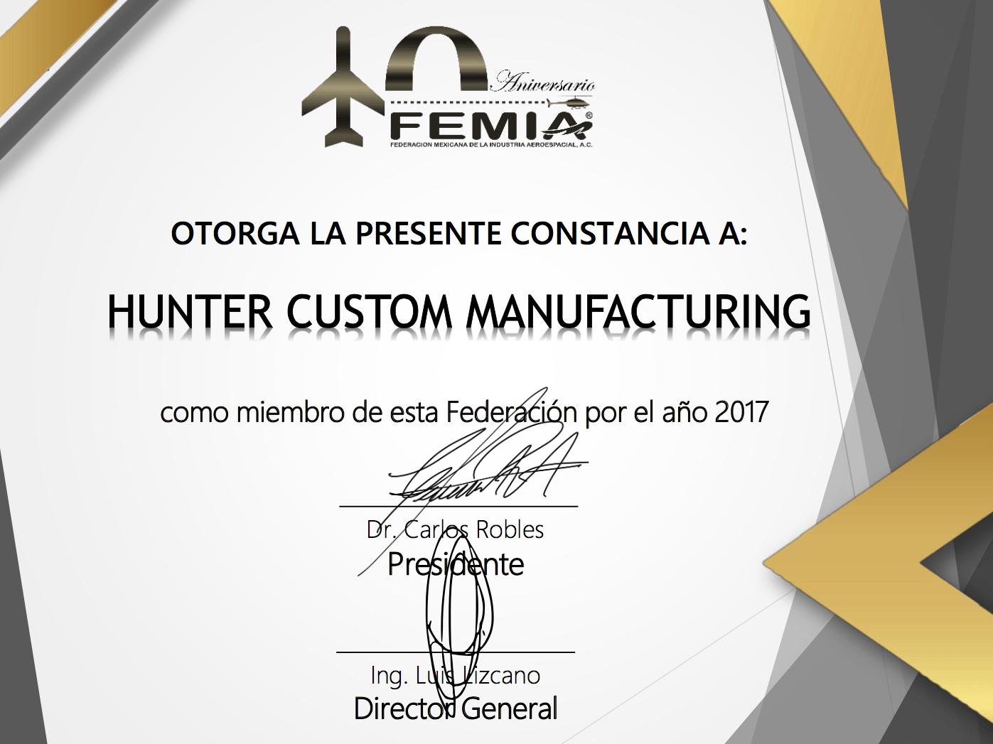 FEMIA Certification
